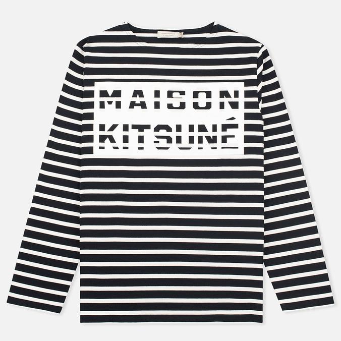 Мужской лонгслив Maison Kitsune Marin Black Ecru
