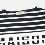 Мужской лонгслив Maison Kitsune Marin Black Ecru фото- 1