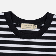 Мужской лонгслив Maison Kitsune Marin Tricolor Fox Patch Black/White фото- 1