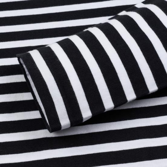 Мужской лонгслив Maison Kitsune Marin Tricolor Fox Patch Black/White