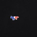 Мужской лонгслив Maison Kitsune Tricolor Fox Patch Black фото- 2