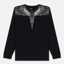 Мужской лонгслив Marcelo Burlon Black Wings Black/Black фото- 0