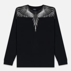 Мужской лонгслив Marcelo Burlon Black Wings Black/Black