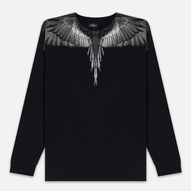 Мужской лонгслив Marcelo Burlon Black Wings Black/Black