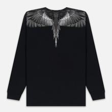 Мужской лонгслив Marcelo Burlon Black Wings Black/Black фото- 3