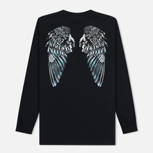 Мужской лонгслив Marcelo Burlon Heart Wings Black/White фото- 1