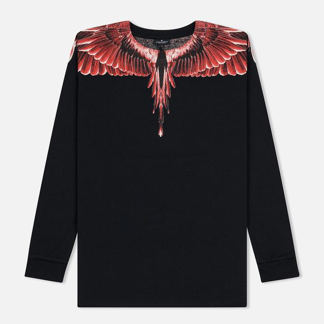 Мужской лонгслив Marcelo Burlon Red Ghost Wings Black/Multicolor