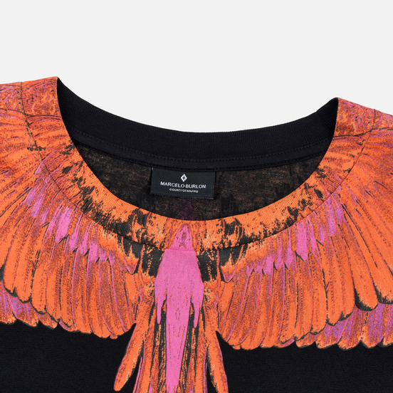 Мужской лонгслив Marcelo Burlon Red Wings Black/Red