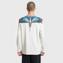 Мужской лонгслив Marcelo Burlon Turquoise Wings Beige/Multicolor фото- 3