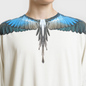 Мужской лонгслив Marcelo Burlon Turquoise Wings Beige/Multicolor фото - 2