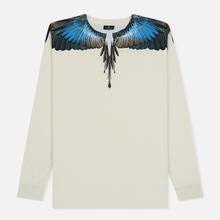 Мужской лонгслив Marcelo Burlon Turquoise Wings Beige/Multicolor фото- 0