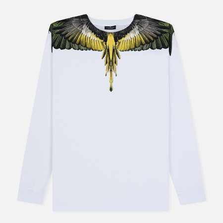 Мужской лонгслив Marcelo Burlon Yellow Wings White/Multicolor