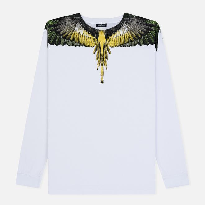 Мужской лонгслив Marcelo Burlon Yellow Wings White/Multicolor