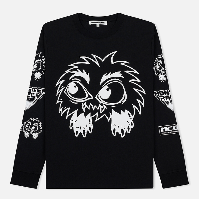 Мужской лонгслив McQ Alexander McQueen Monster Rally Crew Neck Darkest Black