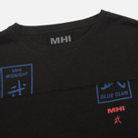 Мужской лонгслив MHI By Maharishi Club Print Black фото- 1