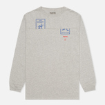 MHI By Maharishi Club Print Men's Longsleeve Grey Marl photo- 0
