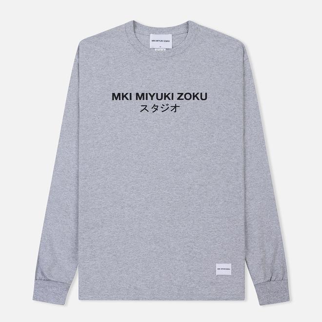Мужской лонгслив MKI Miyuki-Zoku Classic Logo Long Sleeve Grey