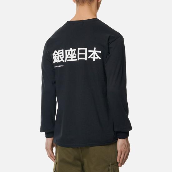 Мужской лонгслив MKI Miyuki-Zoku Ginza Black