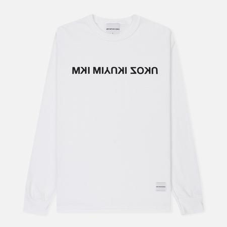 Мужской лонгслив MKI Miyuki-Zoku Mix Logo White