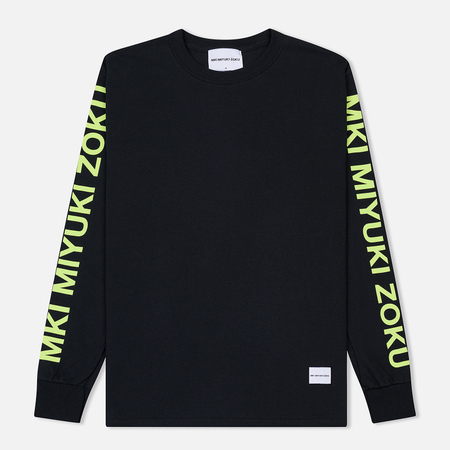 Мужской лонгслив MKI Miyuki-Zoku Neon Logo Black