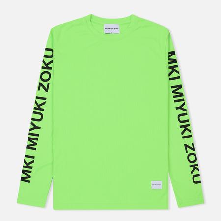 Мужской лонгслив MKI Miyuki-Zoku Neon Logo Flo Green