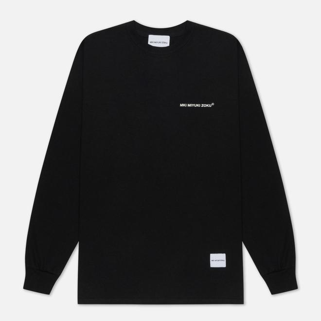 Мужской лонгслив MKI Miyuki-Zoku Registered Logo Black
