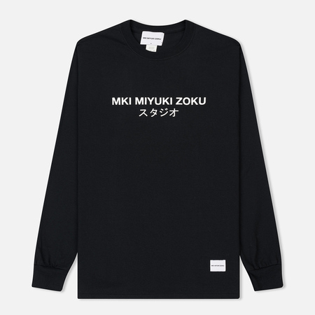 Мужской лонгслив MKI Miyuki-Zoku Studio Classic Logo Black