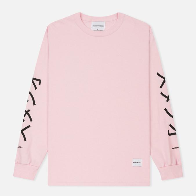 Мужской лонгслив MKI Miyuki-Zoku Symbol Arm Long Sleeve Pink