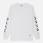 Мужской лонгслив MKI Miyuki-Zoku Symbol Arm Long Sleeve White фото- 0