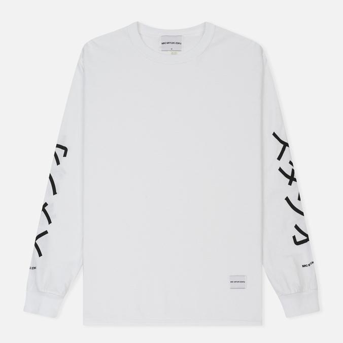 Мужской лонгслив MKI Miyuki-Zoku Symbol Arm Long Sleeve White