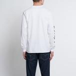 Мужской лонгслив MKI Miyuki-Zoku Symbol Arm Long Sleeve White фото- 5