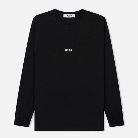 Мужской лонгслив MSGM Micro Logo Black/White