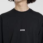 Мужской лонгслив MSGM Micro Logo Black/White фото- 3
