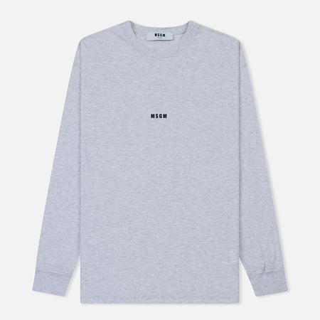Мужской лонгслив MSGM Micro Logo Grey/Black