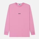 Мужской лонгслив MSGM Micro Logo Pink/Black фото- 0