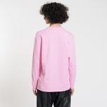 Мужской лонгслив MSGM Micro Logo Pink/Black фото- 2