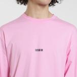 Мужской лонгслив MSGM Micro Logo Pink/Black фото- 3