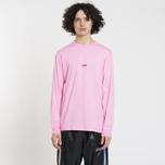 Мужской лонгслив MSGM Micro Logo Pink/Black фото- 1