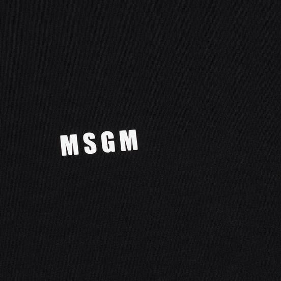 Мужской лонгслив MSGM Micro Logo Print MSGM Black