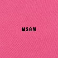 Мужской лонгслив MSGM Micro Logo Print MSGM Fuchsia фото- 2