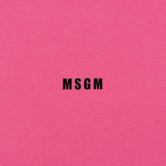 Мужской лонгслив MSGM Micro Logo Print MSGM Fuchsia
