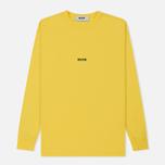 Мужской лонгслив MSGM Micro Logo Yellow/Black фото- 0