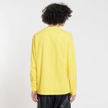 Мужской лонгслив MSGM Micro Logo Yellow/Black фото- 2