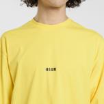 Мужской лонгслив MSGM Micro Logo Yellow/Black фото- 3