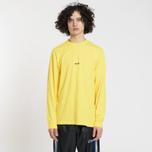 Мужской лонгслив MSGM Micro Logo Yellow/Black фото- 1
