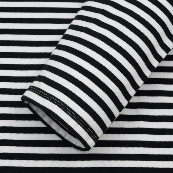 Мужской лонгслив Nanamica Coolmax St. Jersey Black/White