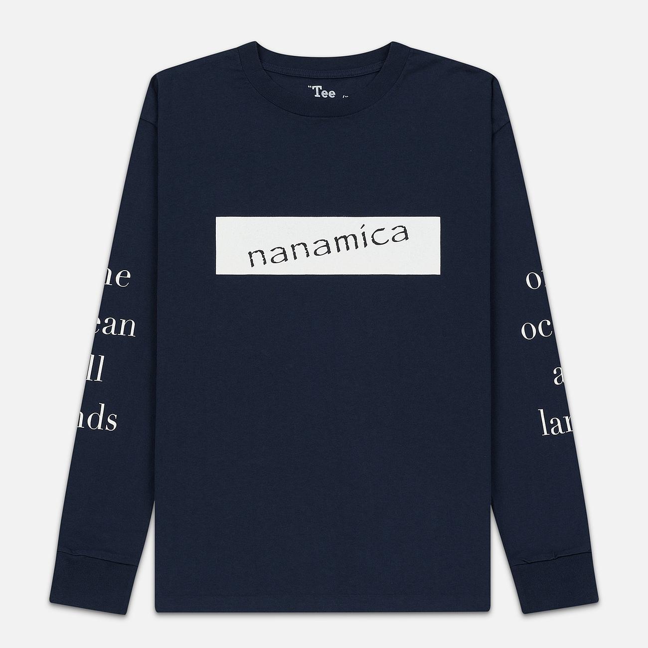 Мужской лонгслив Nanamica Nanamican Graphic Navy
