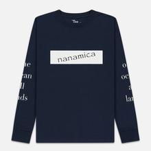 Мужской лонгслив Nanamica Nanamican Graphic Navy фото- 0