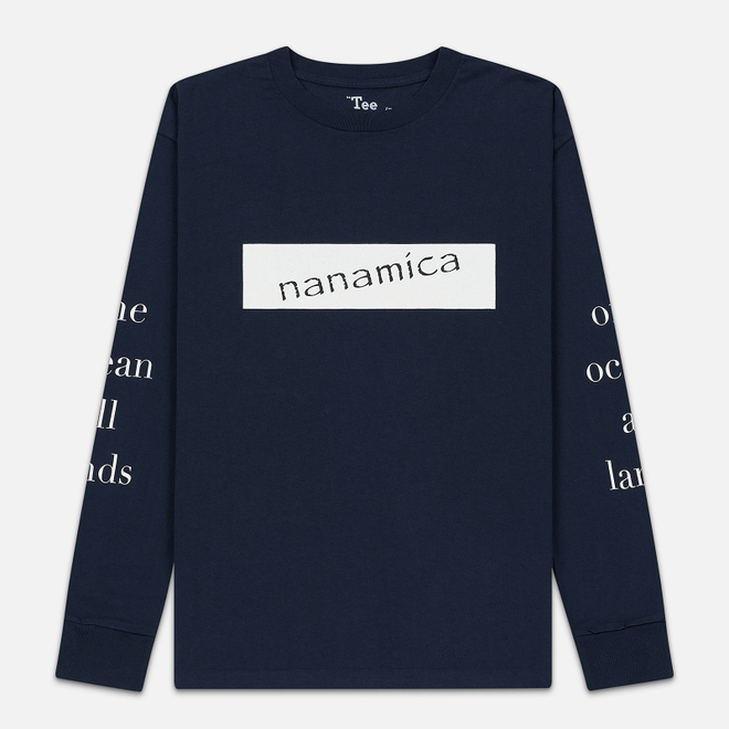 Мужской лонгслив Nanamica Nanamican Graphic Navy