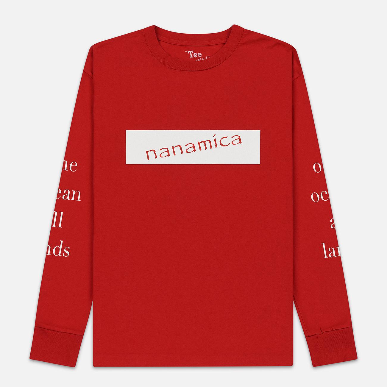 Мужской лонгслив Nanamica Nanamican Graphic Red